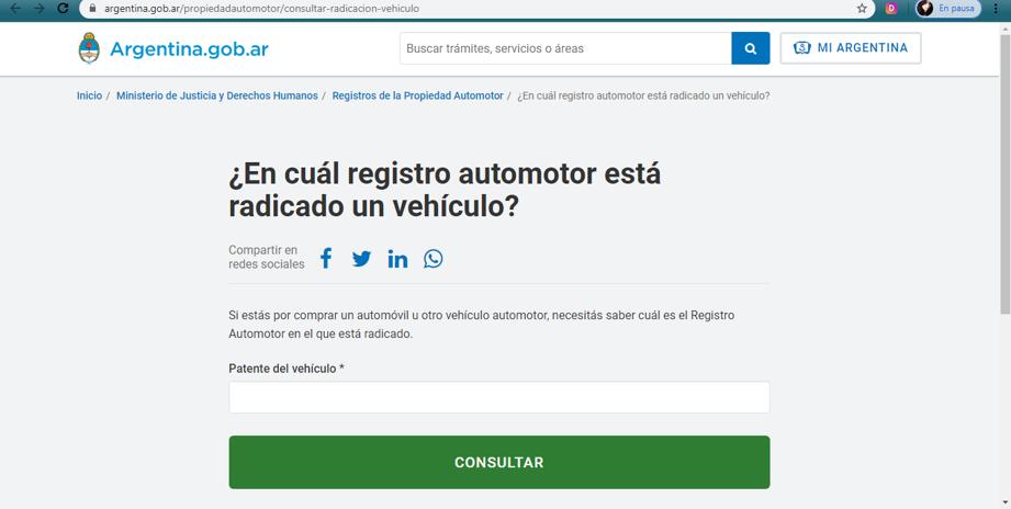 ¿Cómo saber dónde está registrado mi auto