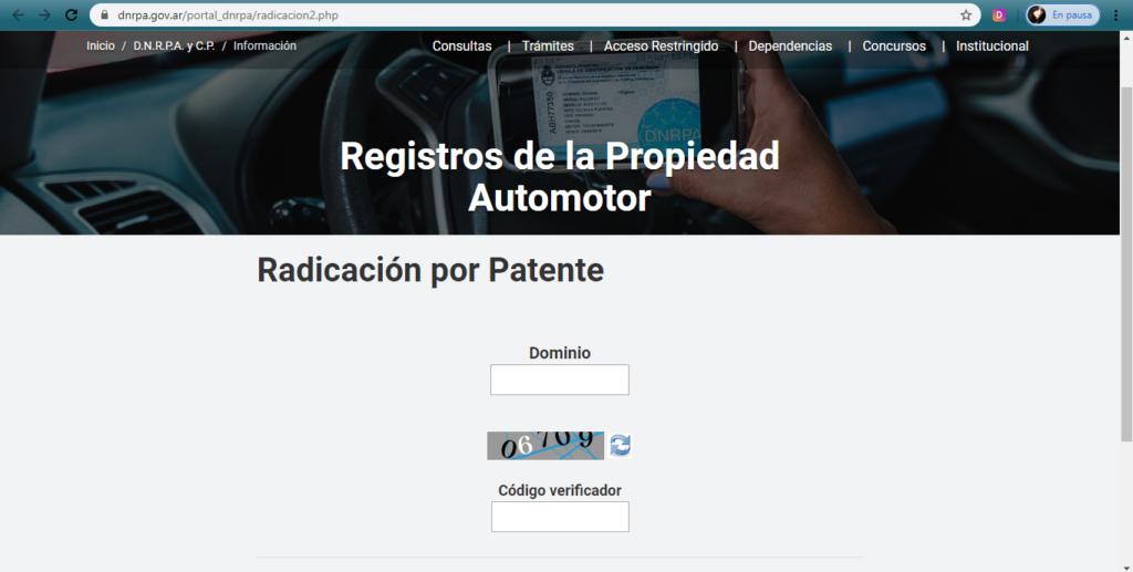 registro automotor 1